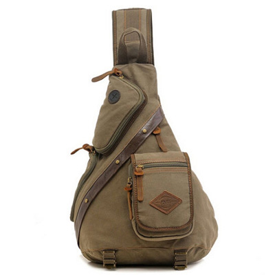 Bonamana Canvas and Leather Haversack bag product image