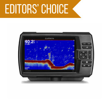 image of Garmin Striker 7SV showing depth and fish location